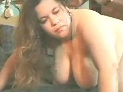 Old man fucks BBW w big tits on bed