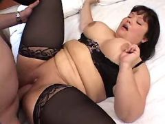 Asian fat slut crazy fucked by man