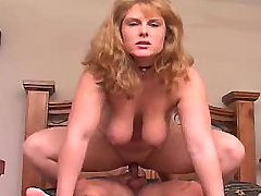 Hot chubby busty chick jump on dick