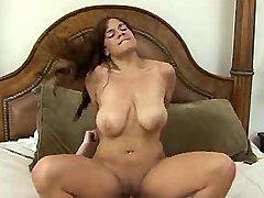 Nice busty brunette chick cockrides