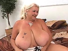 Chubby granny gets crazy titsfuck