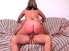 Busty mature rides cock of poor guy