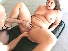Horny plump vixen loves big peckers