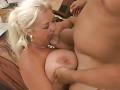 Bbw with huge boobs gets poked