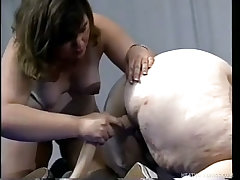 Kung fu fatties take some hard anal dick