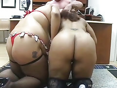 Kansas and candy share a hard cock filled french kiss