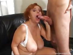 Sexy redhead milf marta hard fucked by guy