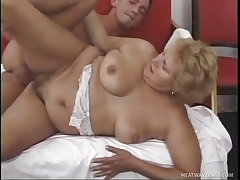 Old grandma slammed by random young stud