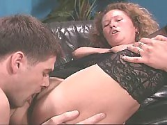 Mature chubby lady enjoys oral sex